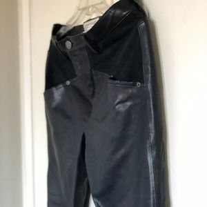 Current Elliot 100% Lamb leather pants